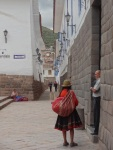 old narrow streets in Cusco